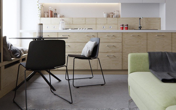 2 căn hộ có diện tích chưa đến 50m² nhưng ăn đứt các nhà rộng khác bởi thiết kế quá đỗi thanh lịch