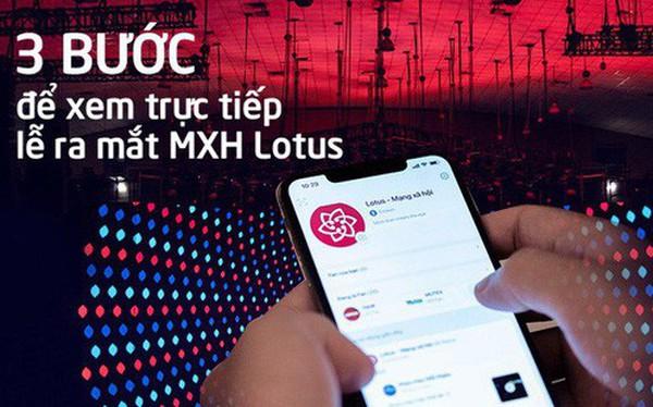 Cài trước app Lotus để xem livestream Lễ ra mắt Mạng xã hội Lotus - sự kiện siêu hot sắp diễn ra!