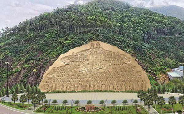Bình Định tạm dừng tạc phù điêu 86 tỷ đồng vào vách núi