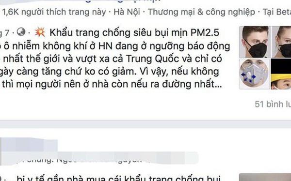 Ám ảnh bụi mịn hại phổi, dân Hà Nội tốn tiền triệu mua khẩu trang