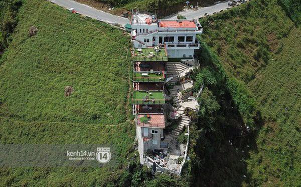 Chùm ảnh: Cận cảnh toà nhà 7 tầng xây dựng trái phép trên đỉnh Mã Pì Lèng