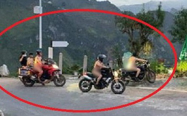Nhóm khách khỏa thân đi motor trên đèo Mã Pì Lèng bị chỉ trích dữ dội: Chính quyền lên tiếng