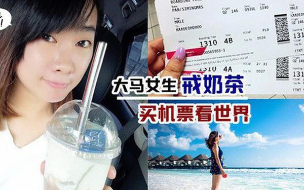 Bỏ uống trà sữa trong 4 tháng, cô gái gom đủ tiền mua vé máy bay đi du lịch nước ngoài