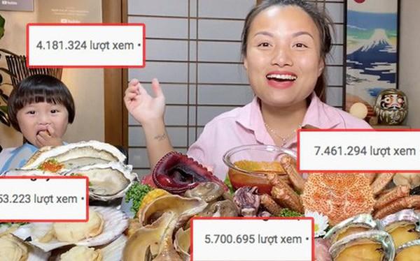"""Hiện tượng MXH Quỳnh Trần JP đang sở hữu 4 video khủng nhất nhì giới Youtube ẩm thực Việt: toàn món đắt tiền, mukbang đúng kiểu """"dạ dày không đáy"""""""