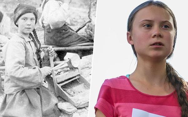 Dân mạng xôn xao khi Greta Thunberg xuất hiện trong bức hình từ cách đây 120 năm: Tấm hình có thật 100%, phải chăng cô bé có thể xuyên không?