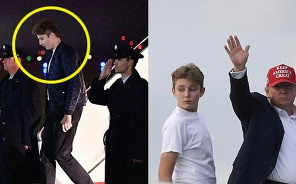 """Gia đình Tổng thống Mỹ quay trở lại sau kỳ nghỉ lễ, Barron Trump gây thương nhớ với vẻ ngoài lạnh lùng, sở hữu góc nghiêng """"thần thánh"""""""