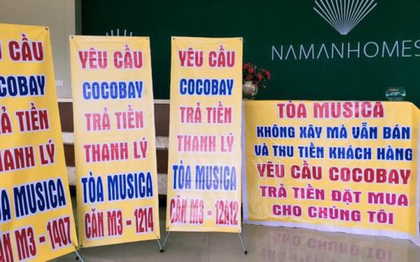 Băng rôn treo kín dự án Cocobay, khách hàng gửi đơn kiện lên Tòa án nhân dân Hà Nội: Thành Đô tuyên bố đơn phương hủy hợp đồng nếu hạn chót 30/12 khách hàng không chịu kí phương án