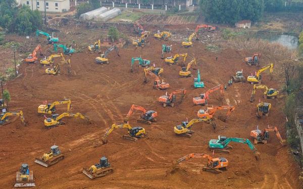 Phép màu Vũ Hán: Chính quyền đang cho xây dựng bệnh viện 1.000 giường, hoàn thành trong 6 ngày để chữa trị cho bệnh nhân nhiễm virus corona