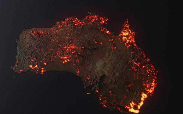"""Thực hư về tấm hình cháy rừng """"đại thảm họa"""" biến nước Úc thành biển lửa đang gây bão cộng đồng mạng"""