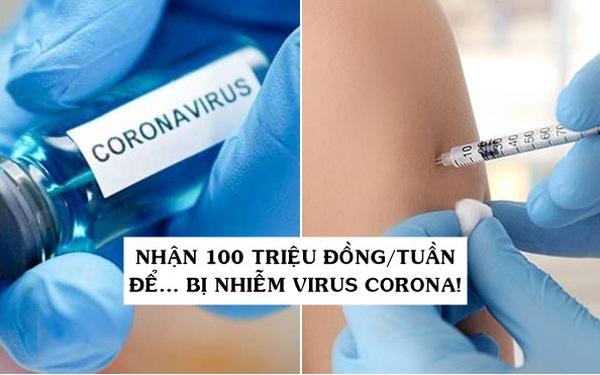 Việc nhẹ lương cao: Nhận hơn 100 triệu đồng/tuần để ngồi thư giãn trong phòng, việc duy nhất phải làm là… bị nhiễm virus corona!
