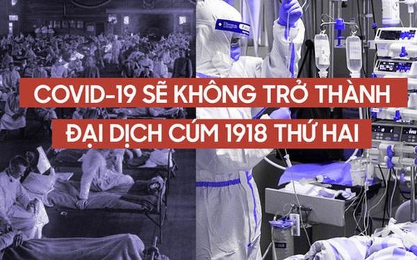 """Vì sao COVID-19 sẽ không trở thành thảm kịch chết chóc như Cúm Tây Ban Nha 1918, dù đều là """"đại dịch""""?"""