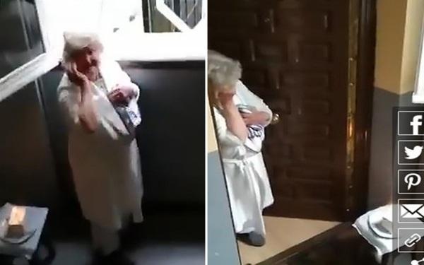 """Được tổ chức sinh nhật """"từ xa"""" giữa dịch Covid-19, bà cụ Tây Ban Nha 80 tuổi rơi nước mắt"""