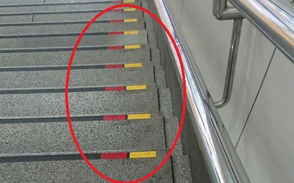 """Lý do bất ngờ khiến nhiều bậc cầu thang ở Nhật có dấu đỏ-vàng, quả không hổ danh là quốc gia """"kỹ tính"""" nhất thế giới"""