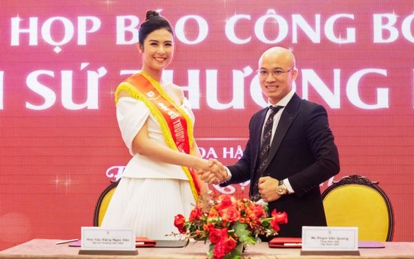 Hoa hậu Ngọc Hân được chọn làm Đại sứ thương hiệu Unie Việt Nam