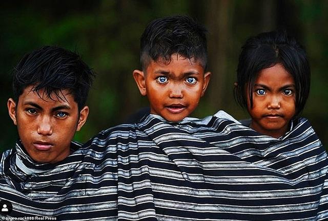 Sự thật đằng sau những đôi mắt xanh tuyệt đẹp phát sáng trong đêm tối của người dân bộ tộc mắt biếc kỳ lạ - Ảnh 3.