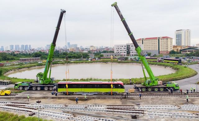 Đoàn tàu metro Nhổn - Ga Hà Nội đã về depot Nhổn - Ảnh 2.