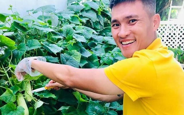 Cuộc sống giản đơn của vợ chồng Công Vinh - Thuỷ Tiên: Cùng nhau chăm sóc vườn rau sạch, tự tay thu hoạch củ quả, ăn không hết đem tặng hàng xóm - Ảnh 12.