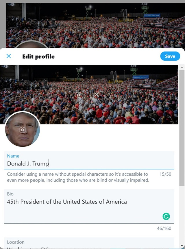 Tận dụng khẩu hiệu tranh cử, hacker tuyên bố đoán được mật khẩu Twitter của Tổng thống Trump - Ảnh 1.