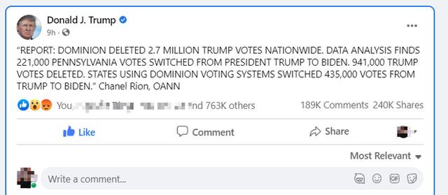 Ông Trump nổ phát súng đầu tiên về gian lận bầu cử: 2,7 triệu phiếu bầu cho Trump bị xóa? - Ảnh 1.