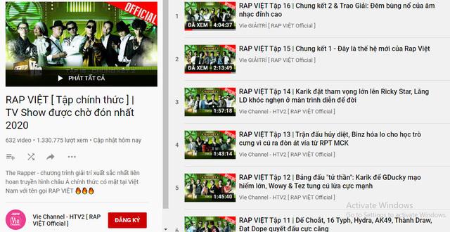 Rap Việt lập kỷ lục thế giới nhờ 1,2 triệu người xem trực tuyến: Gấp 5 lần thành tích của Độ Mixi, mang về cả chục tỷ đồng từ YouTube - Ảnh 2.