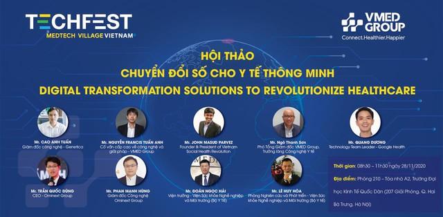 Làng Công nghệ Y tế tại Techfest 2020: Tạo nền tảng kết nối, thúc đẩy chuyển đổi số cho y tế thông minh tại Việt Nam - Ảnh 4.