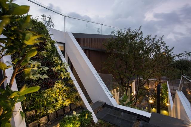 Nhà 2 tầng mở hoàn toàn với cửa kính, cả sân thượng là vườn trồng rau và khu vui chơi - Ảnh 8.