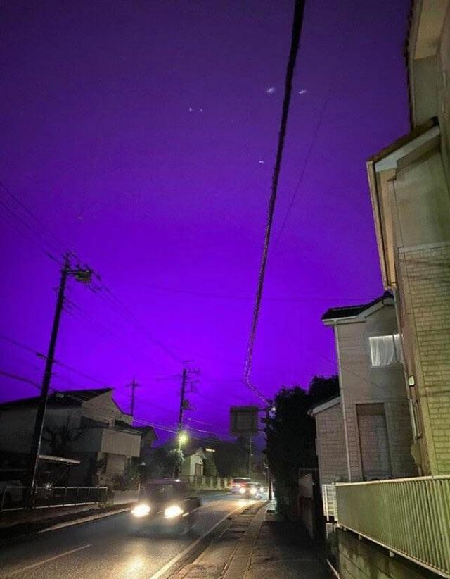 Nhật Bản: Bầu trời bỗng chuyển màu tím như phim kinh dị khiến nhiều người hoang mang, nhưng khi biết nguyên nhân ai nấy đều ngã ngửa - Ảnh 4.