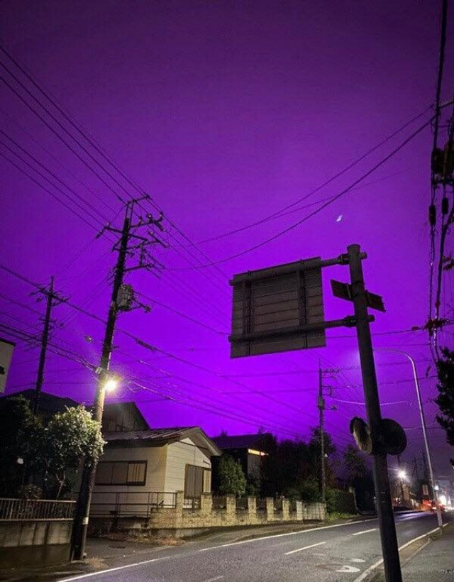 Nhật Bản: Bầu trời bỗng chuyển màu tím như phim kinh dị khiến nhiều người hoang mang, nhưng khi biết nguyên nhân ai nấy đều ngã ngửa - Ảnh 5.