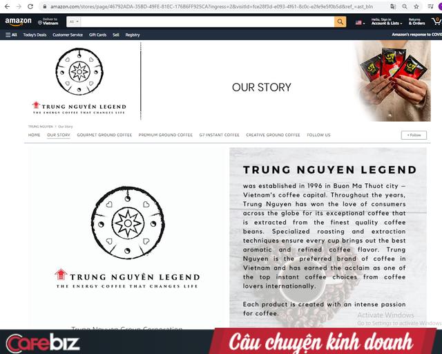 Trung Nguyên của ông Đặng Lê Nguyên Vũ đang kinh doanh trên Amazon ra sao? - Ảnh 1.