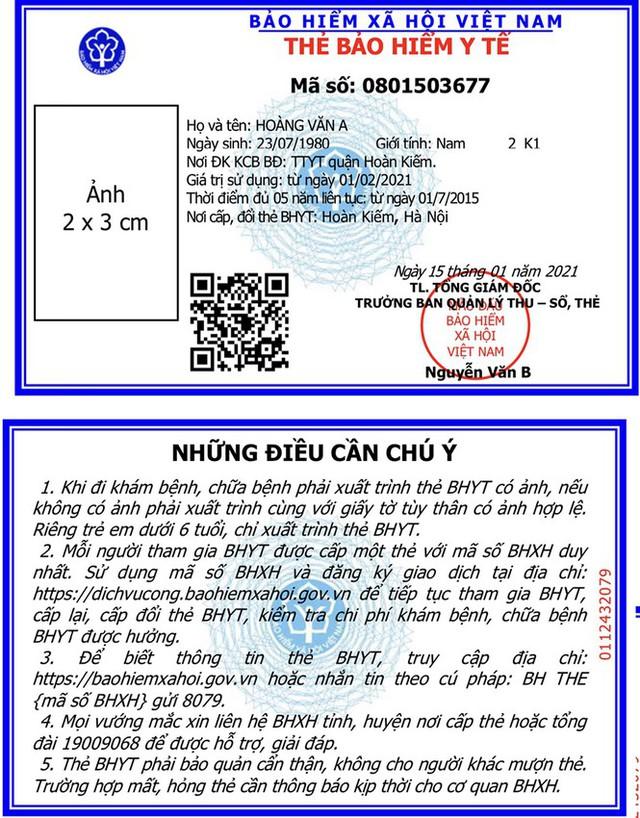 BHXH Việt Nam thay mẫu thẻ BHYT mới từ 1/4 năm sau - Ảnh 1.