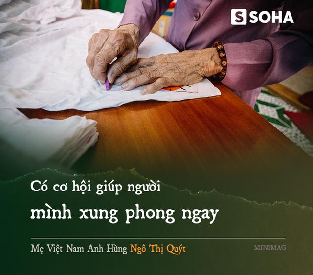 Mẹ Việt Nam Anh hùng 97 tuổi may khẩu trang tặng người nghèo phòng dịch Covid-19 - Ảnh 3.