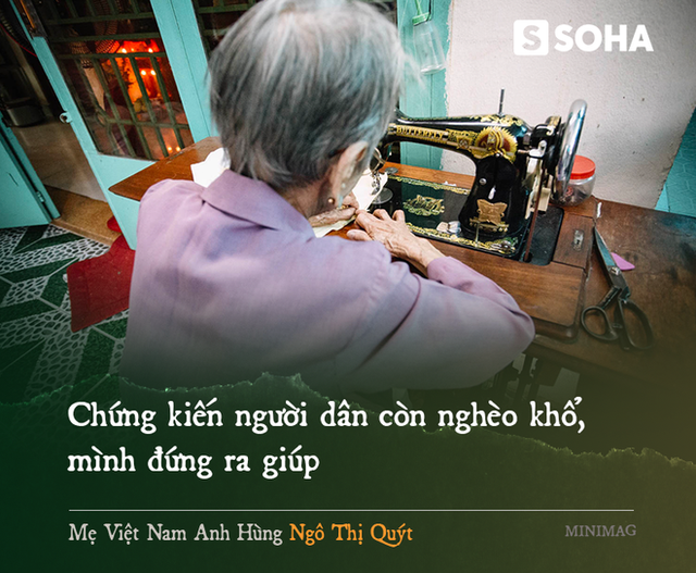 Mẹ Việt Nam Anh hùng 97 tuổi may khẩu trang tặng người nghèo phòng dịch Covid-19 - Ảnh 9.