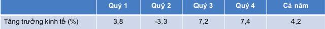 VEPR: Tăng trưởng GDP cả Quý 2 và Quý 3 của Việt Nam đều dự báo âm trong kịch bản trung tính, tăng trưởng GDP Quý 2 âm 4,9% - Ảnh 2.