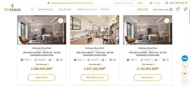 Vinhomes ra mắt sàn giao dịch BĐS trực tuyến: Khách hàng có thể online mua nhà giá gốc, chỉ cần 4 thao tác là hoàn tất giao dịch - Ảnh 2.