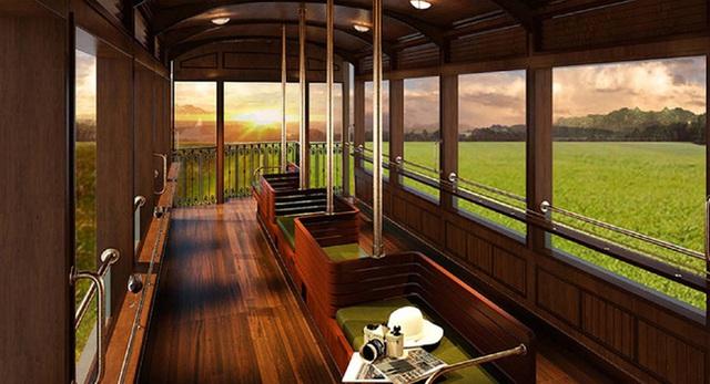 Lại xuất hiện chuyến tàu nối Huế - Đà Nẵng có nội thất xịn như trong phim, đặc biệt lại còn là tàu hơi nước đậm chất hoài cổ - Ảnh 4.