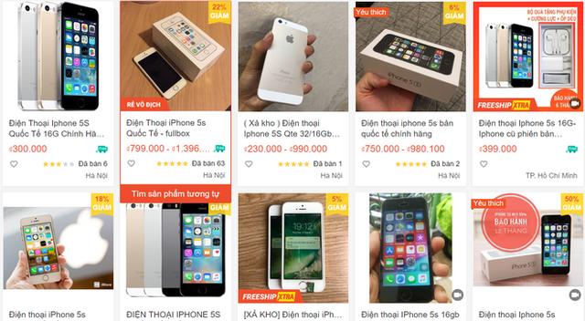 iPhone đời cũ giá chỉ 300.000 đồng bán tràn lan - Ảnh 1.