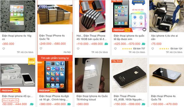 iPhone đời cũ giá chỉ 300.000 đồng bán tràn lan - Ảnh 2.