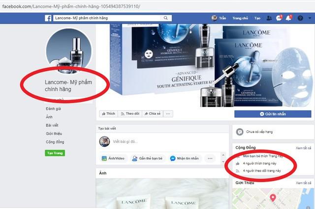 Hàng loạt Fanpage và website giả mạo LANCÔME Việt Nam bán hàng giả: Chị em cần đặc biệt lưu ý kẻo tiền mất, tật mang!  - Ảnh 3.