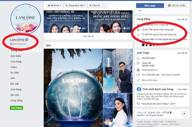 Hàng loạt Fanpage và website giả mạo LANCÔME Việt Nam bán hàng giả: Chị em cần đặc biệt lưu ý kẻo tiền mất, tật mang!  - Ảnh 2.