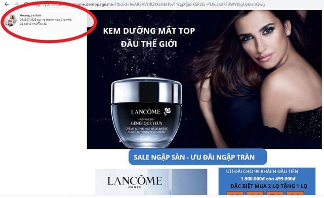 Hàng loạt Fanpage và website giả mạo LANCÔME Việt Nam bán hàng giả: Chị em cần đặc biệt lưu ý kẻo tiền mất, tật mang!  - Ảnh 6.