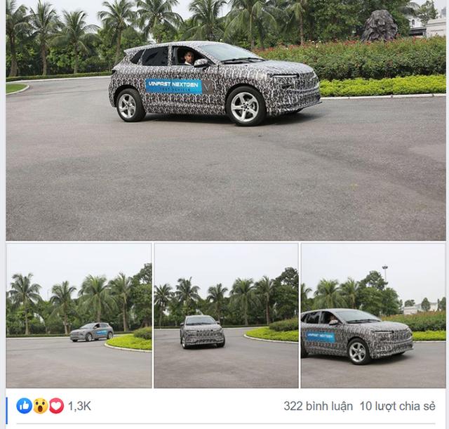 Lộ diện ô tô điện của VinFast ngụy trang kín mít chạy thử? - Ảnh 1.