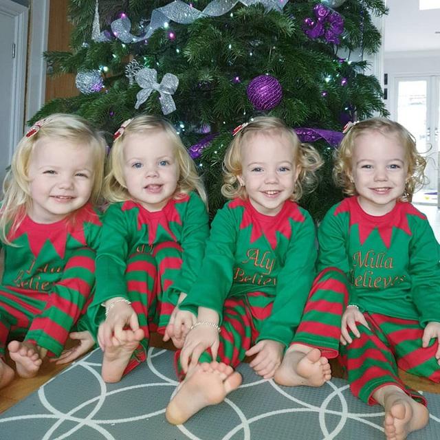 4 bé gái trong ca sinh tư giống hệt nhau vô cùng hiếm trên thế giới với tỷ lệ chỉ 1/70 triệu ca sau 3 năm đã có những thay đổi gây ngỡ ngàng - Ảnh 5.