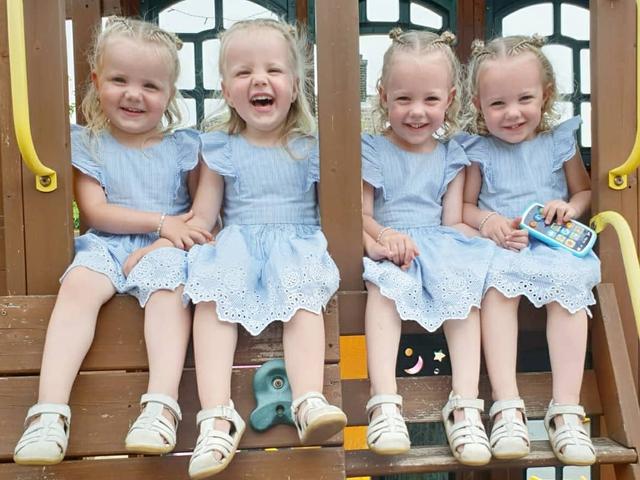 4 bé gái trong ca sinh tư giống hệt nhau vô cùng hiếm trên thế giới với tỷ lệ chỉ 1/70 triệu ca sau 3 năm đã có những thay đổi gây ngỡ ngàng - Ảnh 9.