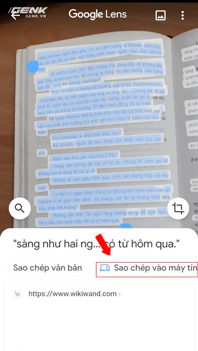 Hướng dẫn copy-paste văn bản trên giấy vào máy tính trong 1 nốt nhạc với Google Lens - Ảnh 3.