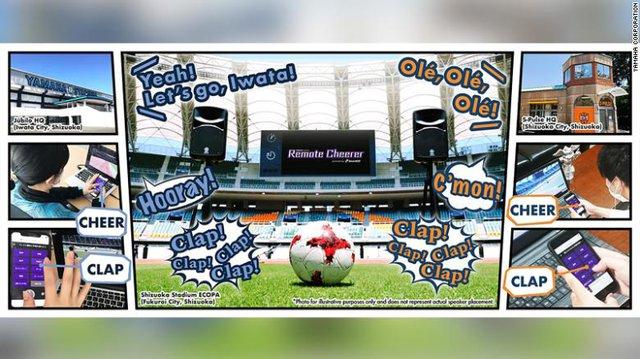 Nhật Bản phát triển ứng dụng cho phép người hâm mộ cổ vũ bóng đá an toàn ngay tại nhà - Ảnh 1.