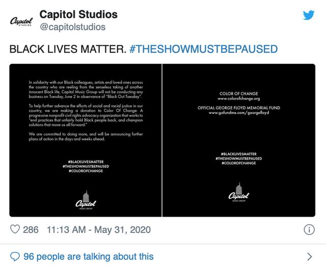 Dân mạng toàn thế giới đồng loạt treo ảnh đen để ủng hộ George Floyd - người đàn ông da màu thiệt mạng dưới đầu gối của cảnh sát - Ảnh 4.