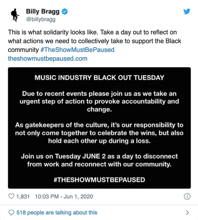 Dân mạng toàn thế giới đồng loạt treo ảnh đen để ủng hộ George Floyd - người đàn ông da màu thiệt mạng dưới đầu gối của cảnh sát - Ảnh 6.