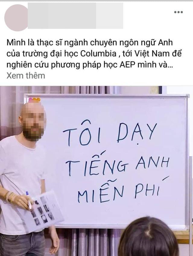 Cảnh báo chiêu trò lừa đảo người nước ngoài dạy tiếng Anh miễn phí của một trung tâm Anh ngữ nổi tiếng ở Hà Nội - Ảnh 1.