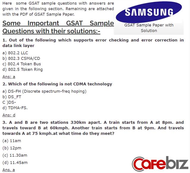Sốc với quy trình tuyển dụng căng hơn thi đại học của Samsung Việt Nam - Ảnh 3.