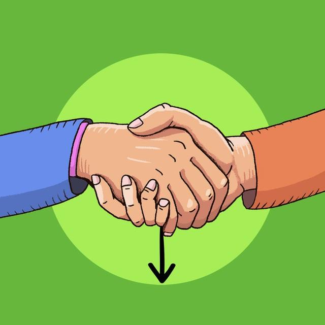 Cách bắt tay cũng chỉ ra tính cách của bạn, rằng bạn là người kiểm soát mọi chuyện hay là dễ bị cuốn theo đối phương - Ảnh 3.